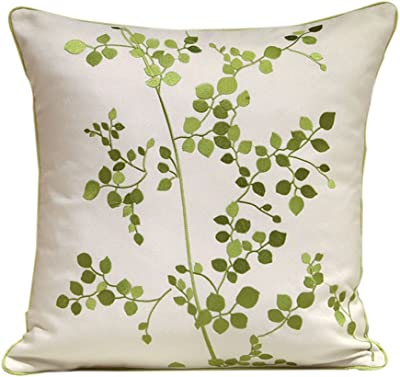 Amazon.com: Small Daisy Pattern 100% Cotton Throw Pillow 18 ...
