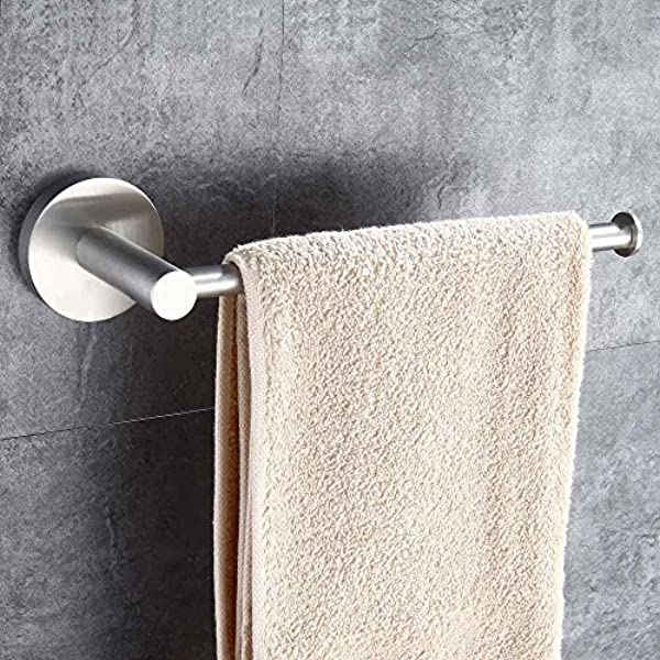 Mellewell Contemporary Towel Bar Holder Towel Ring For Bathroom And Kitchen Wall Mount Brushed Stainless Steel 06001TR 1