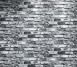 Luxton Rustic Gray Brick Wallpaper (Unpasted), 3D Vintage Faux Brick Stone Wall Paper for Living Room Bathroom Kitchen Renovation Wallpaper Roll, 20.8 inch x 32.8 feet, 1 Roll Pack