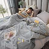 WENZHEN Mantas De Sofas,Manta de Lana de Nieve Mantas de Cama mullidas súper Suaves Mantas Manta de Cama cálida para Mantas de sofá Colcha-N_200 * 230 cm