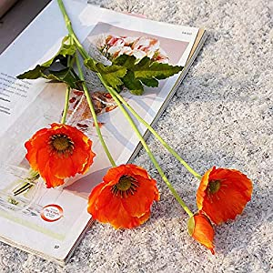 Artificial and Dried Flower Mini Poppies Artificial Flower Simulation Silk Fake Flower Home Party Decoration Wedding Photography Decorative Flowers Prop
