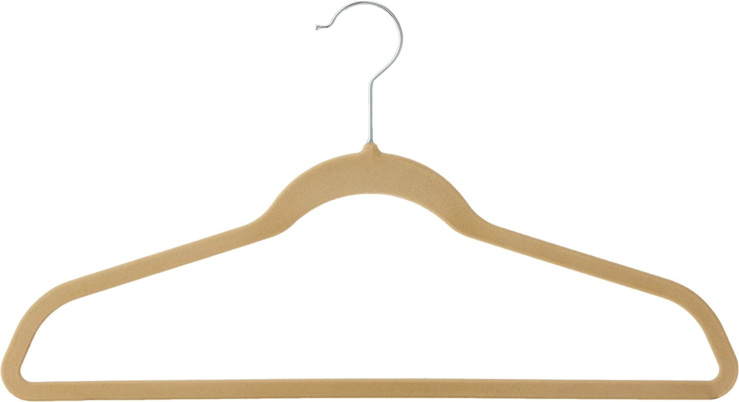 Whitmor Flocked Suit Hangers Beige of Limited time cheap Sale sale Set 15