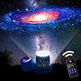 KISTRA Remote Star Projector Night Light for Kids Room (6-Films), 360° Rotating LED Starry Sky Nightlight with 1/2 Hrs...