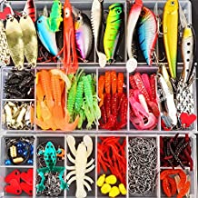 Kpapd 375 Pcs Freshwate Fishing Lures Kit Frog Lures Fishing Spoons Saltwater Bait Fishing Tackle Box Grasshopper Lures Fishing Gear Lures for Bass Trout Bass Salmon Fishing Gifts for Friend