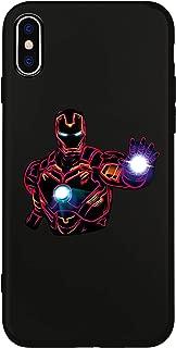 JOYLAND Black Phone Case Bumper Comic Hero Design Anti-Scratch Shockproof Silicone Gel Case Shell Cover for iPhone XR