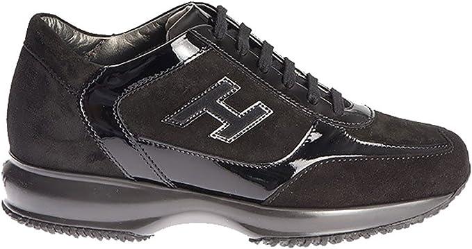 Hogan Sneakers Interactive Nero in CAMOSCIO E Vernice, Donna ...