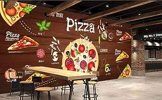 Minyose Custom Wallpaper 3D Pizza Background Wall Western Restaurant Murals Tv Backdrop Wall Mural Wallpaper for Wall 3D-140Cmx100Cm