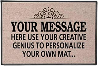 Best WHAT ON EARTH Your Message Here - Create Your Own Personalized Custom Doormat - Indoor/Outdoor Olefin Welcome Mat Reviews