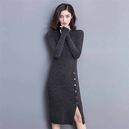 Gaoxu-VêteHommests pour femmes GX Tricots à Manches Longues de la Robe d'hiver même partagé des Colis Hip Robe Taille