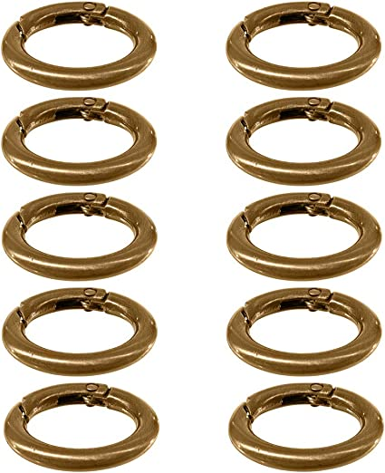 CLASPS carabiner 35mm x 13mm metal key ring red copper color-LOT of 4 or 10