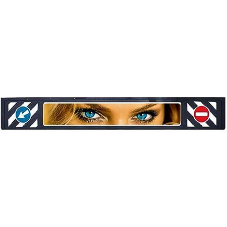 Universelle Lkw Schmutzfängerleiste Blue Eyes 2400x350mm Auto