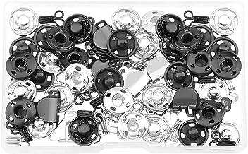 ULTNICE 50Pairs Naaien- Op Metalen Snap Knoppen Metal Snaps Fasteners Drukknopen Knoppen Messing Bevestigingsmiddelen Druk...