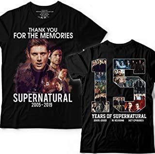 2b705f109e3 15 Years Of Supernatural 2005 2019 2 Sides Printing Customized Handmade T-Shirt  Hoodie