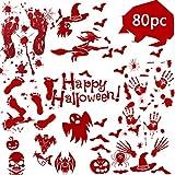 QCQHDU 80 Stück Halloween-Dekorationen, Tatorten, Party,