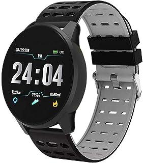 949cd123c Muium 🌿🌿Multifunción Reloj Inteligente Redondo Negocio Trabajo Impermeable,Monitor  de presión Arterial de