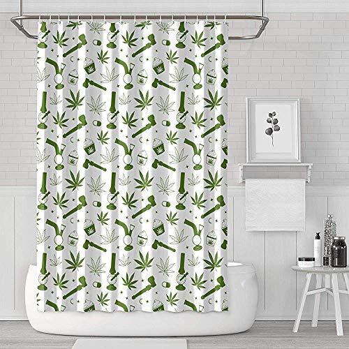 Gustave Tomlinson Hanf-Nahtloser Unkraut-Duschvorhang-klassisches langlebiges Gut für das Badezimmer, Bad-Vorhänge druckend
