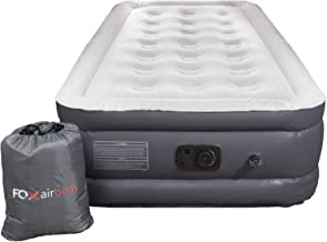 Fox Air Beds - Air Mattress with Built-in Pump Size for Guests, Inflatable Double High Elevated Air Bed with Comfortable T...