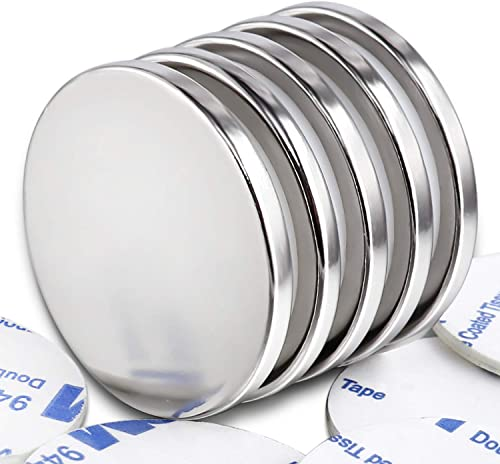 MIKEDE Strong Neodymium Disc Magnets, Powerful Permanent Rare Earth Magnets with Double-Sided Adhesive for Fridge, DI...