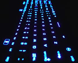 DSI LED Backlit Keyboard with Number Pad - Industrial IP68 Waterproof Rugged Silicone IKB106BL