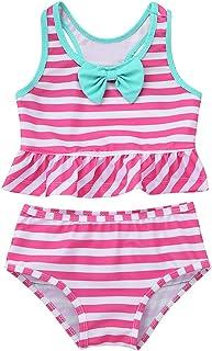TiaoBug Baby - Mädchen Einteiler Badeanzug UV-Schutz Bikini Polka Dots Bade Bekleidung Schwimmanzug 62 68 74 80 86 92 98