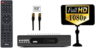 eXuby Digital Converter Box for TV, Antenna, RF Cable Record and View Full HD Digital Channels for Free (Instant & Scheduled Recording, 1080P HDTV, HDMI Output, 7 Day Program Guide & LCD Screen)