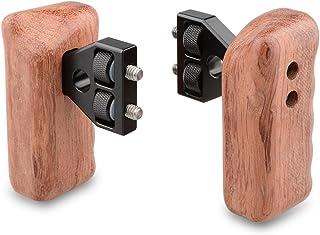 CAMVATE DSLR Holzgriff Griff mit Stecker für DV Video Kamera Käfig (1 Paar)