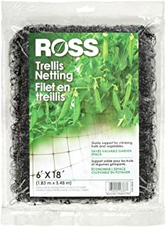 Ross Trellis Netting (Support for Climbing, Fruits, Vegetables and Flowers) Black Garden Netting, 18 feet x 6 feet