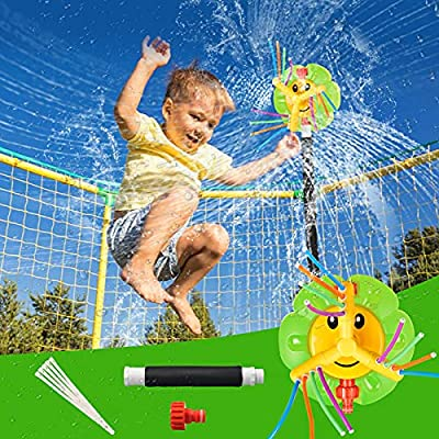 Amazon - 50% Off on Trampoline Sprinkler for Kids, 360-Degree Rotating Outdoor Sunflower Trampoline Accessories