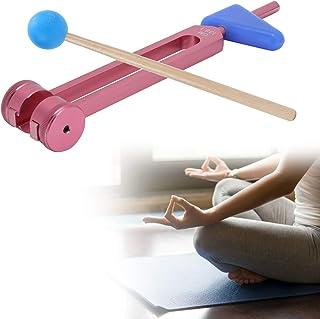 音叉、音叉キットサウンドヒーリングセラピー音叉楽器、136.1HZ診断ツールセラピーツール(Rose pink OM tuning fork)