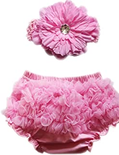 Luckyauction Baby Infant Girls Cotton Rose Bownot Panties Briefs Bloomer