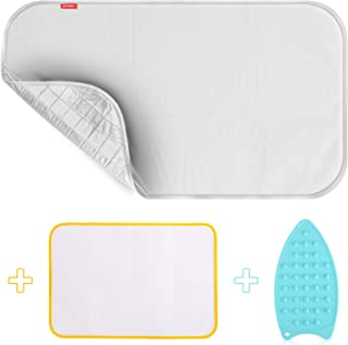 YQMAJIM Ironing Blanket Ironing Mat,Upgraded Thick Portable Travel Ironing Pad,Isolate Heat Pad Cover for Washer,Dryer,Table Top,Countertop,Ironing Board for Small Space-19 x 33 inch