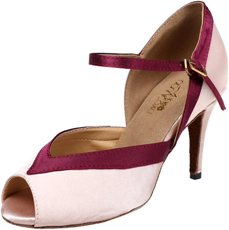 MsMushroom Woman's Satin Party Wedding Dance shoes 3 1 3  Heel