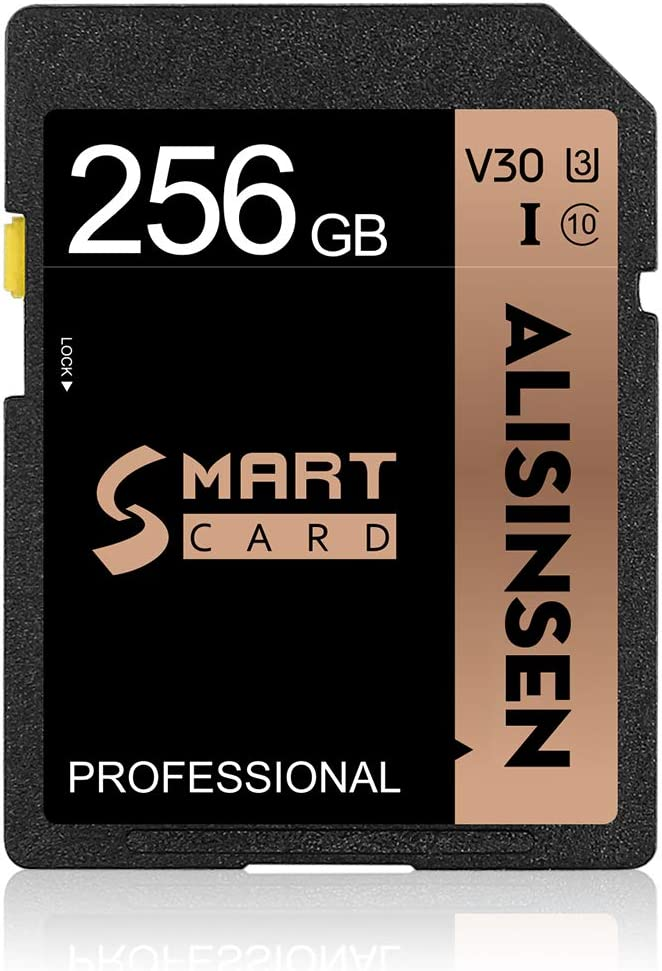 SD Card 256GB Memory Card 256GB Flash Memory Card Class 10 High Speed Security Digital Memory Card for Videographers&Vloggers(256GB)