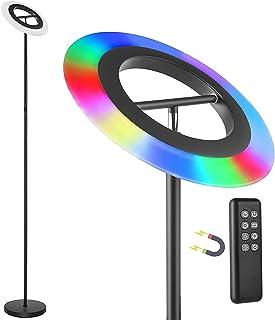 Anten Star | 18W LED Lampadaire Dimmable | Noir | RGB Lampe Sur Pied De à Changement Multicolore Avec Télécommande | 175cm...