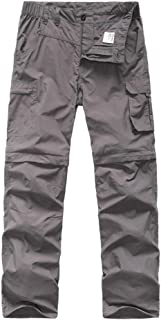 Kids' Cargo Pants, Boy's Casual Outdoor Quick Dry Waterproof Hiking Climbing Convertible Trousers
