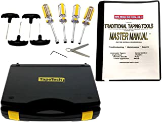 TapeTech Drywall Taping Tools Maintenance Kit with Master Repair Manual for Tapers, Angle Heads, Flat Boxes, Pumps, Rollers & More