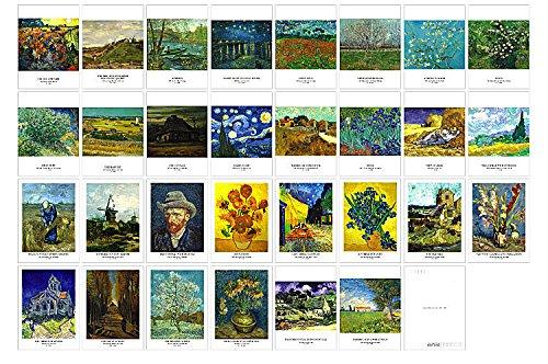 Nova edição colecionável! Cartões postais da coleção de artistas e Van Gogh. 30 Cartas postais Van Gogh, 10 x 15 cm, Van Gogh