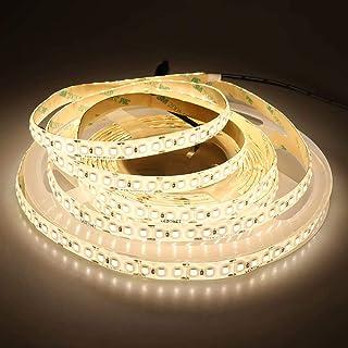 LEDENET 16.4FT Warm White LED Strip Light 2835 12V SMD 660LEDs Flexible Ribbon Lamp Waterproof IP65