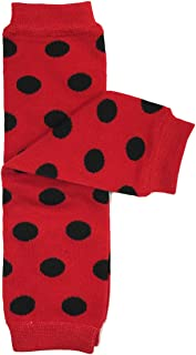 red and black polka dot leg warmers