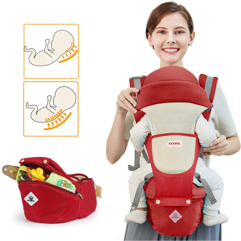 Blue 360 Baby Carrier Newborn to Toddler 4 in 1 Soft Sling All Carry with Hip Seat 360 Positions Award-Winning Ergonomic Newborn Seats