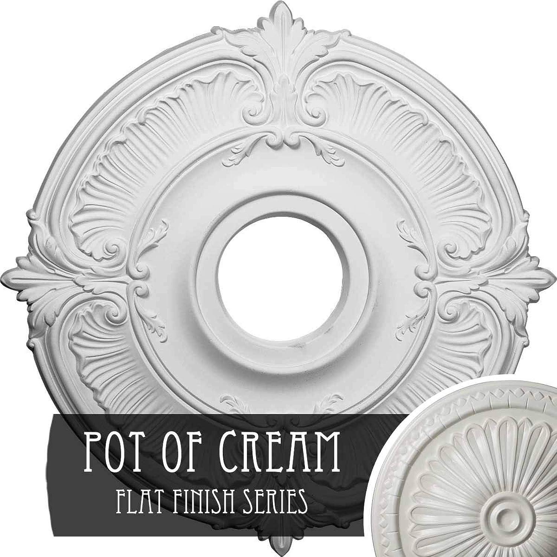 Ekena Millwork CM18ATPCF Attica Ceiling Medallion, 18 OD x 4 ID x 5 8 P, Pot of Cream
