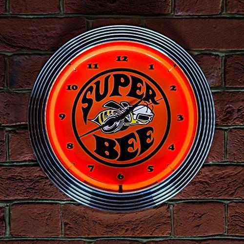 Superbee Dodge Neon Uhr – echte Neonuhr (Nicht LED)