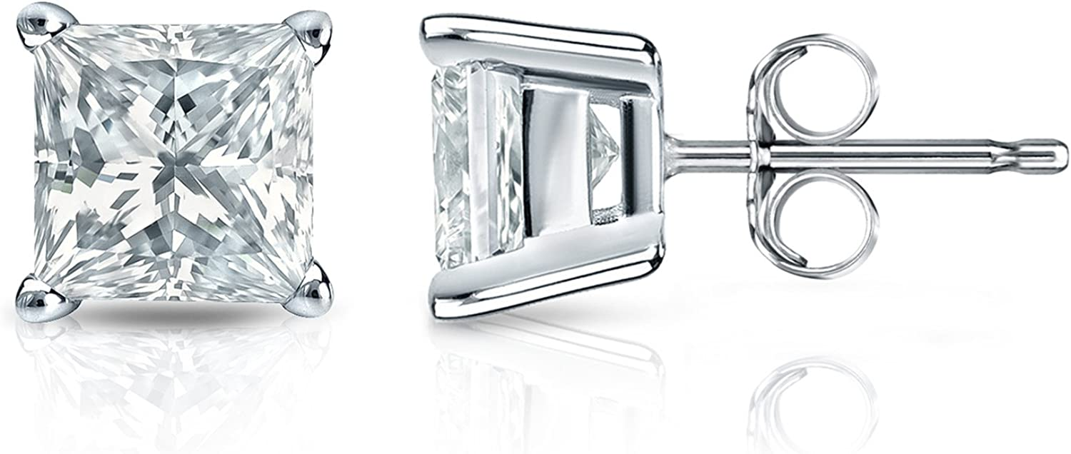 Diamond Las Vegas Mall Wish Sterling Silver Princess-cut Zircon Simulated Cubic A surprise price is realized