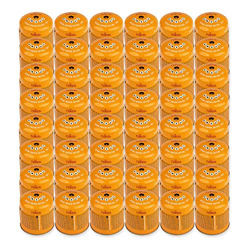 FUMOSA Stechkartuschen Set für Campingkocher, Lampen und Lötbrenner, 190g - 48 Kartuschen