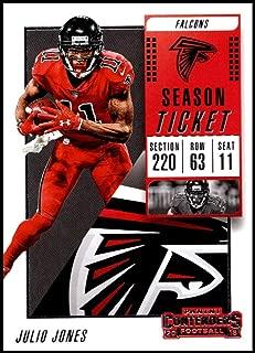 2018 Panini Contenders Season Tickets #94 Julio Jones NM-MT Atlanta Falcons Official NFL Football Card