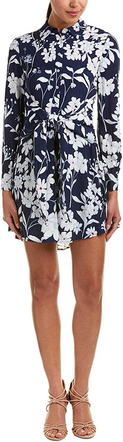 1.STATE Womens TieFront Floral Print Shirtdress