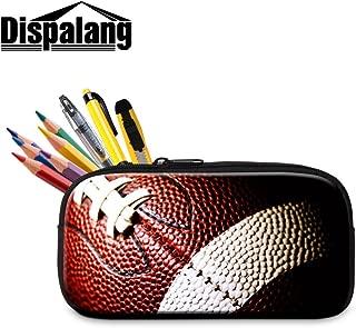 Dispalang Soccer Pencil Bag for Students Cool Zipper Pen Bag for Adults Office