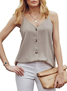 Women's Sleeveless Shirts Spaghetti Strap Tank Top