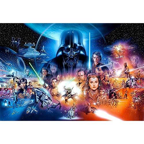 Rompecabezas Póster de la película Star Wars de madera rompecabezas de dibujos animados 300/500/1000/1500 Piezas for la Educación Adultos Niños Amigos de los niños decoración de la pared regalos