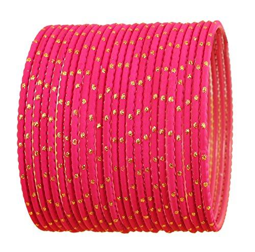 Touchstone Bangle Collection Exklusive Glasur heißen Designer-Schmuck spezielle Armreifen Armbänder für Damen 2.75 Set 2 Rosa